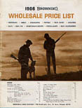 1966 Browning Wholesale Price List
