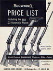 1962 Browning Retail Price List