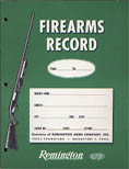 1960 Remington Firearms Record Book
