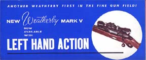 1959-60 Weatherby Mark V Brochure