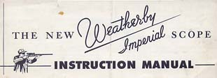 1950's Weatherby Scope Manual