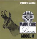 Steyr Mannlicher Luxus Model M Owners Manual