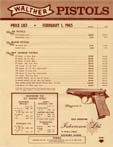 1965 Walther Dealer Price List