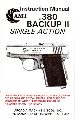 AMT .380 Backup II Manual