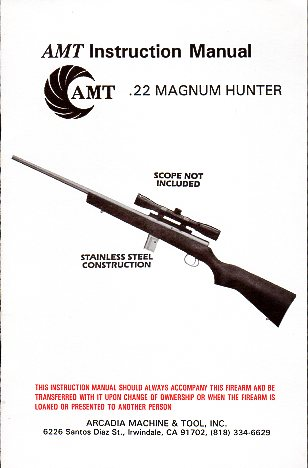 AMT .22 Magnum Hunter Manual