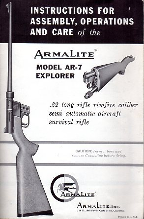 1960's AR-7 Explorer Instructions