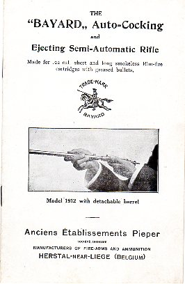 Bayard Model 1912 Rifle Inst.