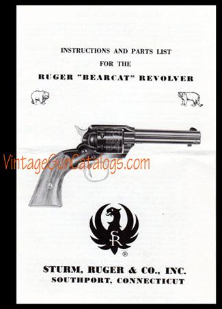 1960 Bearcat Instructions, Vintage Gun Catalogs
