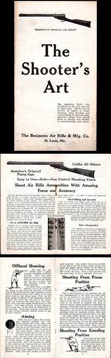 1926 Benjamin Shooting Booklet