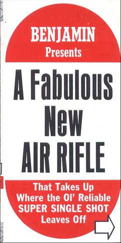 "1969 Benjamin ""A Fabulous New Air Rifle"" Brochure"