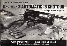 1969 Browning Auto-5 Magnum Instructions