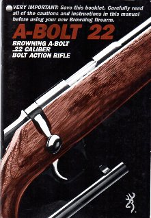 1980's Browning A-Bolt 22 LR Instructions