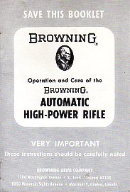 1968 Automatic High Power Rifle Instructions