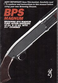 Browning BPS Magnum Instructions