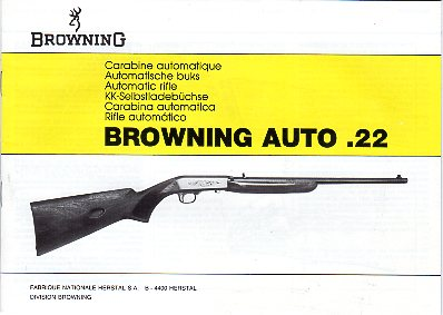Ca.1990's Browning .22 Semi-Auto Manual