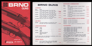 1972 Brno Guns Price List