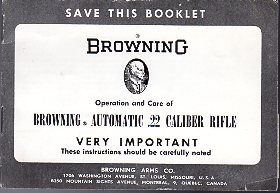 1960's Browning .22 Auto Manual #2