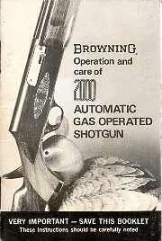 1970's Browning 2000 Manual