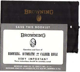1962 Browning .22 Auto Manual