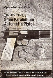 1970's Browning Parabellum Manual