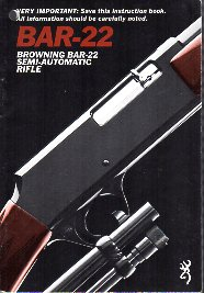 1980's Browning BAR-22 Manual