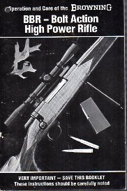 Ca.1980 Browning BBR manual