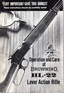1970's Browning BL-22 Manual