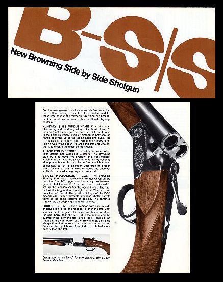 1972 Browning B-S/S Shotgun Brochure