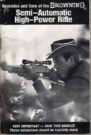 1978 Browning BAR Rifle Manual
