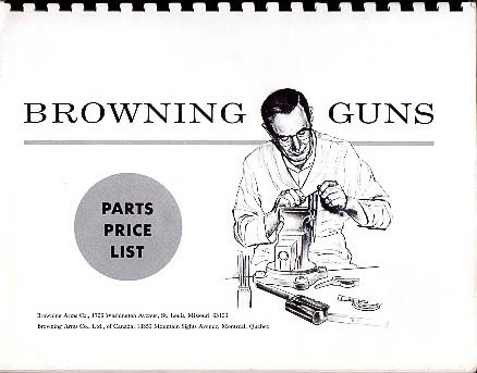 1965 Browning Parts Price List