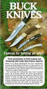 1980 Buck Knives Pocket Catalog