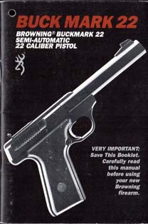 1980's Buck Mark 22 Manual