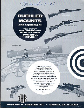 1961 Buehler Mounts Catalog