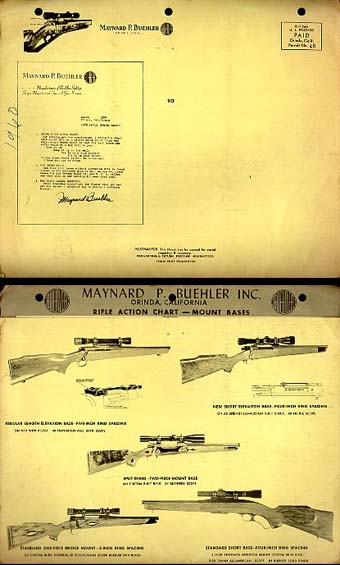 1958 Buehler Scope Mount Rifle Chart