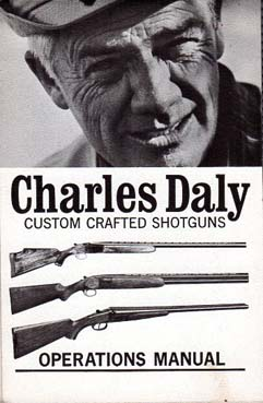 1970's Charles Daly Shotgun Inst.Manual