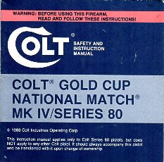 1983 Series 80 Gold Cup Instr.Manual