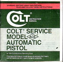 1982 Colt Ace Instr.Manual