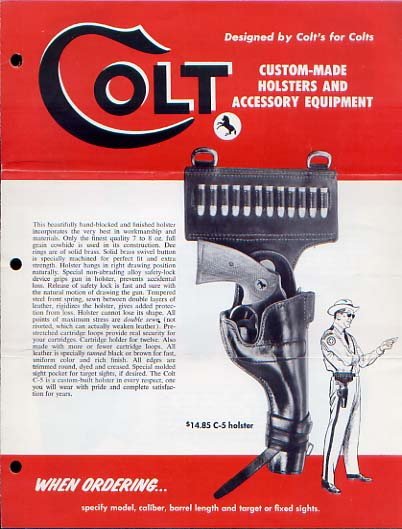 1957 Colt Holsters Catalog