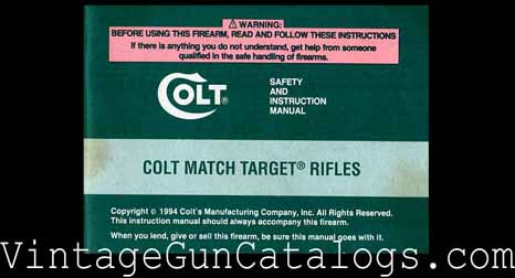 1994 Colt Match Target Rifles Manual
