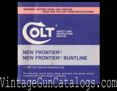1982 Colt New Frontier-Buntline Manual
