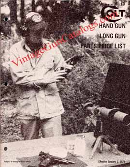 1979 Colt Hand Gun Long Gun Parts Price List