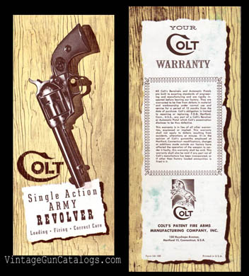 1960's Colt SAA Instruction Manual