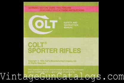 1990 Colt Sporter Rifles Manual