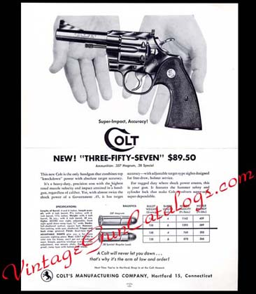 "1953 Colt ""Three-Fifty-Seven"" Broadsheet"