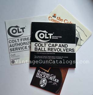 1978 Colt Cap & Ball Revolver Manual