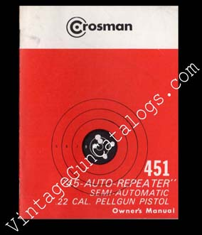Crosman 451 Pistol Manual