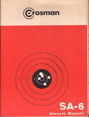 Crosman SA-6 Pistol Manual
