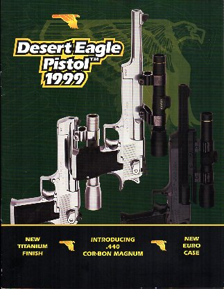 1999 Desert Eagle Pistol Catalog