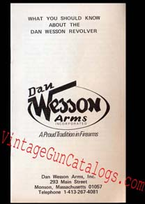 1974 Dan Wesson Arms Revolver Manual