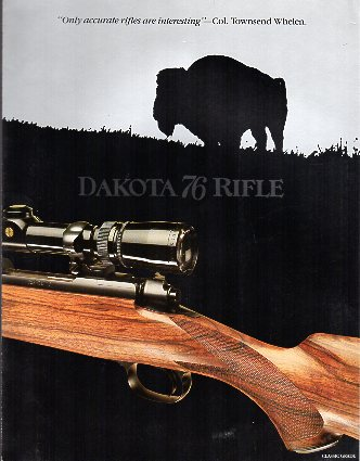 "1988 Dakota Arms ""76 Rifle"" Catalog"